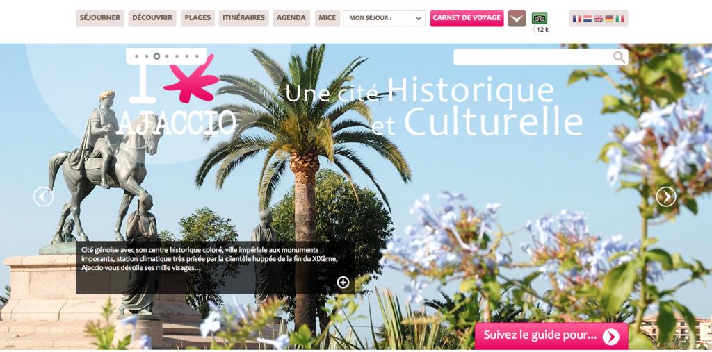 Office tourisme ajaccio site
